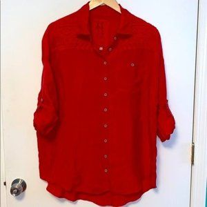 Johnny Was Pete & Greta Button Embroidered Shirt